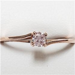 14K ROSE GOLD LIGHT PINK DIAMOND(0.18CT)  RING