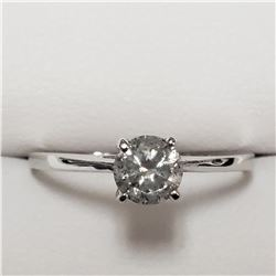 14K WHITE GOLD DIAMOND(G-H, I, 0.55CT)  RING