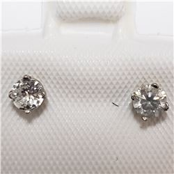 14K WHITE GOLD DIAMOND(0.3CT)  EARRINGS