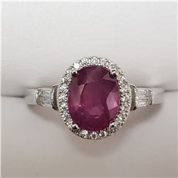 SILVER RUBY  RING (~SIZE 8)