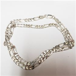 SILVER ITALIAN   NECKLACE (~WEIGHT 27.2G)