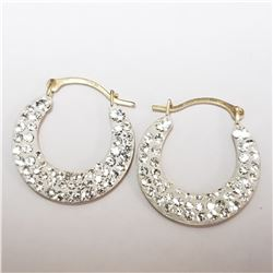 10K YELLOW GOLD CUBIC ZIRCONIA  EARRINGS