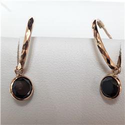 10K ROSE GOLD BLACK DIAMOND(2.1CT)  EARRINGS