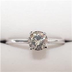 14K WHITE GOLD DIAMOND(H-I, I, 0.65CT)  RING