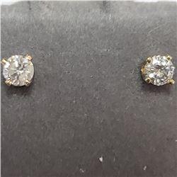 14K YELLOW GOLD DIAMOND(0.14CT)  EARRINGS