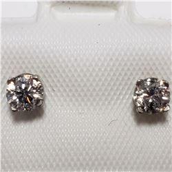 14K WHITE GOLD DIAMOND(0.36CT)  EARRINGS