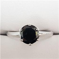 14K WHITE GOLD BLACK DIAMOND(1.4CT)  RING