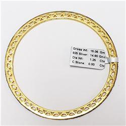 SILVER DIAMOND(1.25CT) WAX AND CAST BANGLE
