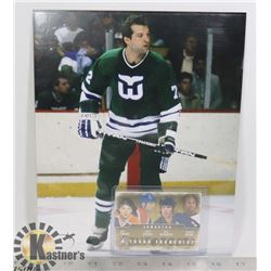 DAVE SEMENKO HARTFORD WHALERS PHOTO AND CARD