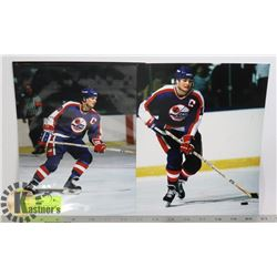 DALE HAWERCHUK WINNIPEG JETS PHOTOS X2