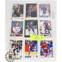 MARK MESSIER 20 HOCKEY CARD LOT HOF 80S AND 90S