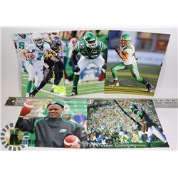 SASKATCHEWAN ROUGHRIDERS 8X10 PHOTO LOT X5