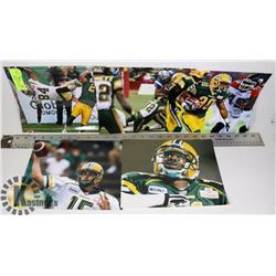 EDMONTON ESKIMOS 8X10 PHOTO LOT X 5 RICKY RAY