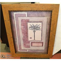 WINDOW BOX PALM TREE FRAMED PICTURE