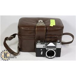VINTAGE ZENIT SLR 35MM CAMERA BODY WITH CASE
