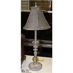 "COPPER COLOR TABLE LAMP 28"" TALL"