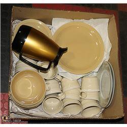 BOX WITH 32-PC DINNERWARE SET PLUS