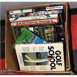 BOX OF 14 HISTORIC NHL HOCKEY BOOKS AND 3 GOLF