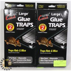 TWO NEW PACKS OF TWO LARGE GLUE TRAPS