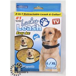 NEW LUCKY LEASH 2 IN 1 RETRACTABLE LEASH AND