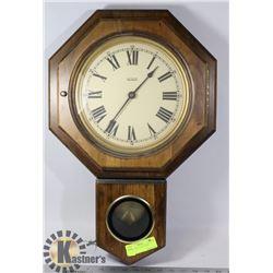 WOOD WALL CLOCK-WORKS