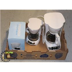 LOT OF 3 COFFEE MAKERS