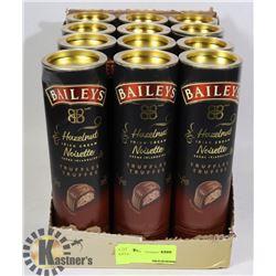 CASE OF 12 BAILYS HAZELNUT IRISH CREAM TRUFFLES