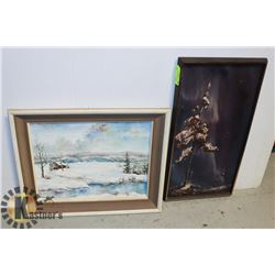WINTER CANVAS PAINTINGS