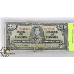 1937 BANK OF CANADA $20