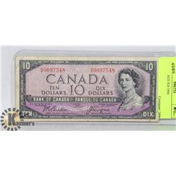 DEVIL'S FACE $10 1954
