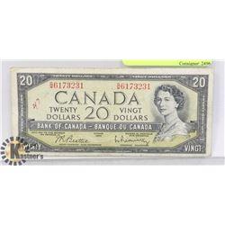 MODIFIED PORTRAIT 1954 $20