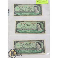 1967 MODIFIED PORTRAIT $1 BILLS