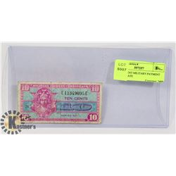 USA 10 CENT MILITARY PAYMENT CERTIFICATE