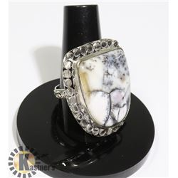 #5-DENDRITIC OPAL RING SIZE 9