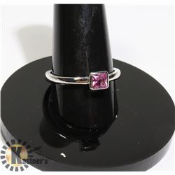 #182-PINK SAPPHIRE RING SIZE 8