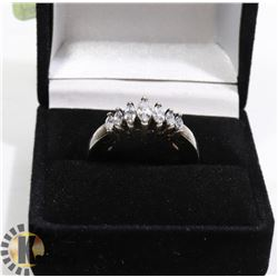 LADIES CZ RING WITH INNER SELF-SIZING