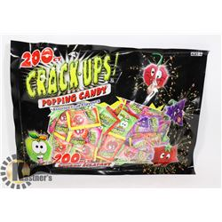 200 COUNT CRACK UPS POPPING CANDY
