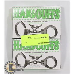 LOT OF TWO HANDCUFFS WITH KEYS