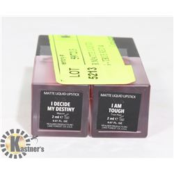 2 REALHER MATTE LIQUID LIPSTICKS - TRUE RED &