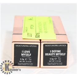 2 REALHER MOISTURIZING LIPSTICKS - DUSTY PINK &