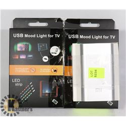 LOT OF 2 NEW USB TV/COSTUME LED  KITS & POWER BANK