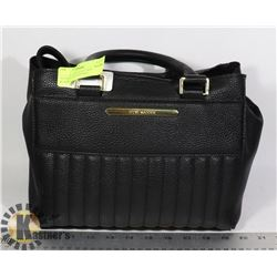SLIGHTLY USED STEVE MADDEN BLACK LADIES HANDBAG