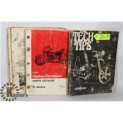 4MISC HARLEY DAVIDSON BOOKS. TECH TIPS, PARTS
