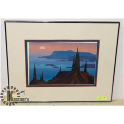 FRAMED & MATTED NORTH WEST PACIFIC ART SCENE.