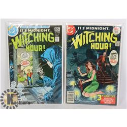 2 VINTAGE COMICS -THE WITCHING HOUR