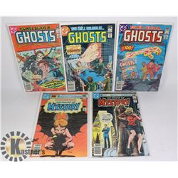5 VINTAGE COMICS - YOU WILL BELIEVE IN GHOSTS