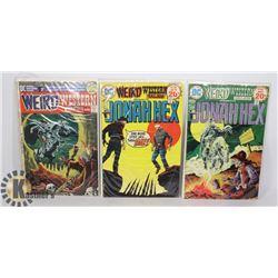 3 VINTAGE 20/25 CENT JONAH HEX COMICS