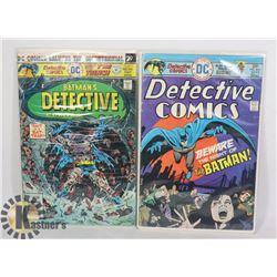 2 VINTAGE 25/30 CENT DETECTIVE COMICS