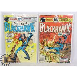 2 VINTAGE 30 CENT BLACKHAWK COMICS