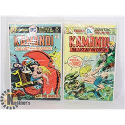 2 VINTAGE 25 CENT KAMANDI COMICS